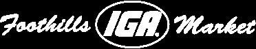 A theme logo of Foothills IGA Market